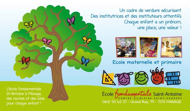 Bienvenue à l'école fondamentale Saint-Antoine